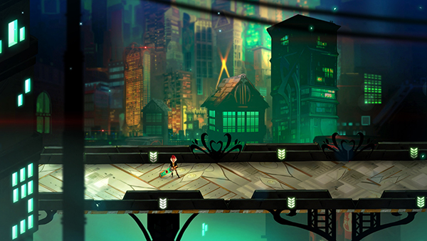 I know these captions are supposed to be silly, but Transistor is really a masterpiece of audio and visual design.