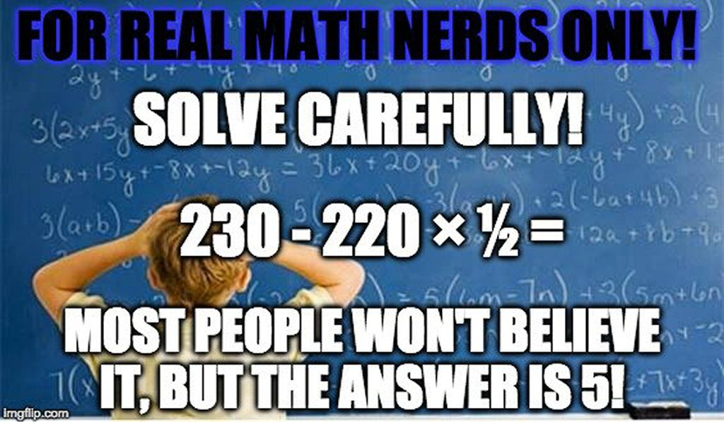 """For """"Real"""" """"Math Nerds"""" """"Only"""""""