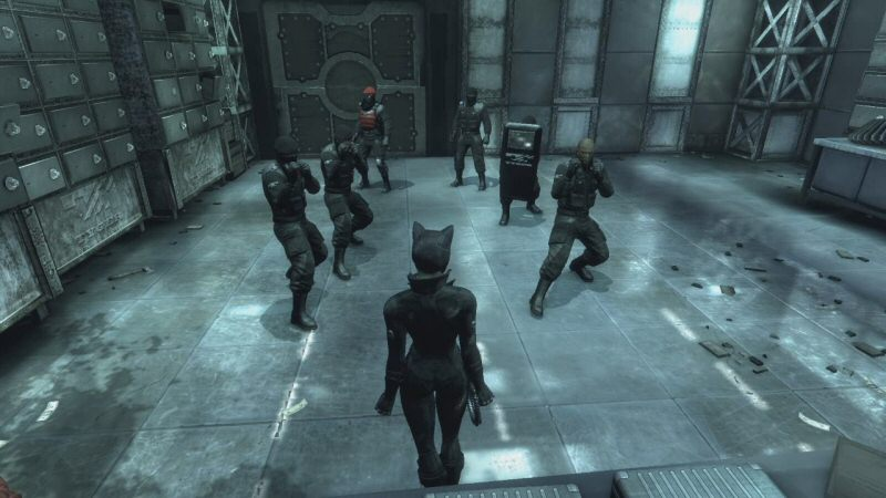 Good thing none of these guys decided to take the guns from their knocked-out buddies on the way in here.