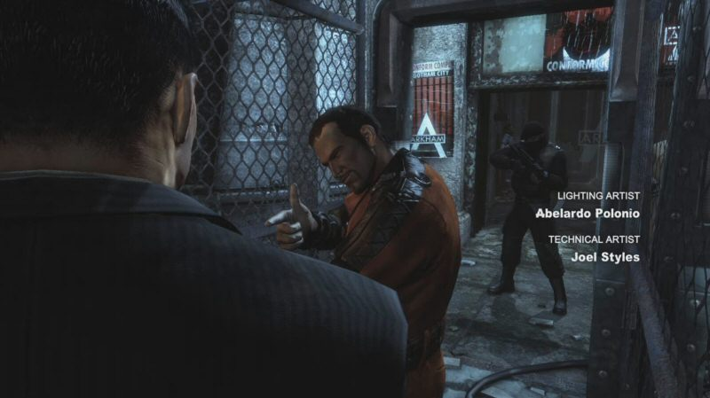 Here we bump into Deadshot on the way into the prison. Deadshot is actually here on hire from Strange, so I'm not sure why he's standing in line with the plebs.
