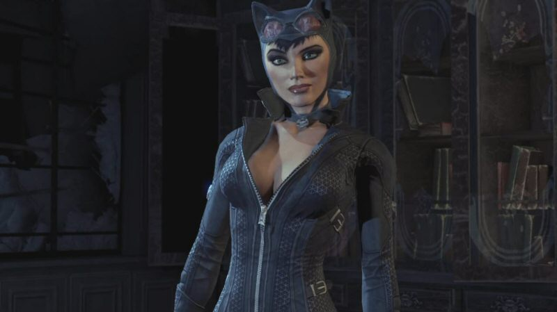 The Catwoman plot doesn't really start until we're an hour or so into the game, but Arkham City opens with a Catwoman scene so it won't feel strange when we switch to her later. Also this scene lets us do a combat tutorial even though Batman is busy being Bruce Wayne at the moment.