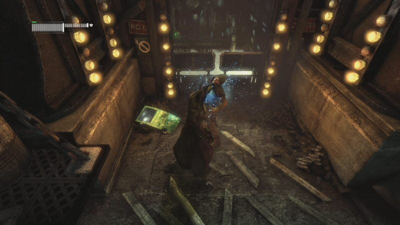 Batman punches his way back into the steel mill. Alone. Like a loser.