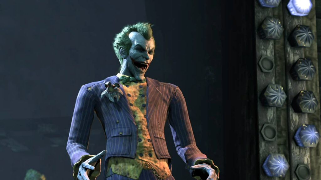 The real Joker doesn't appear in this scene, but he is here just before the fight. Presumably he's hiding just off-stage somewhere, watching this whole thing play out.