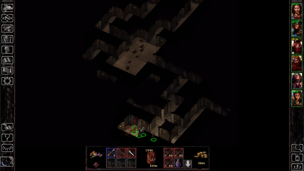 Firewine Ruins. Yet another mazelike, single-file dungeon.