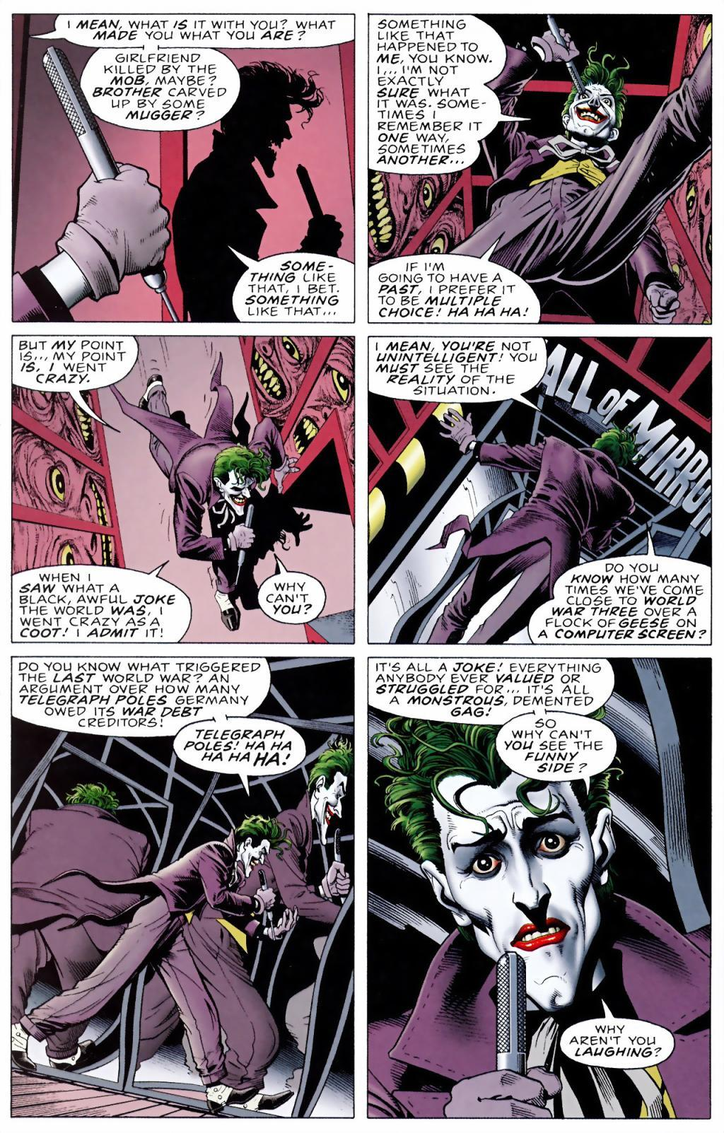 As good as the others were, when I read Joker dialogue, it`s Mark Hamill I hear in my head.