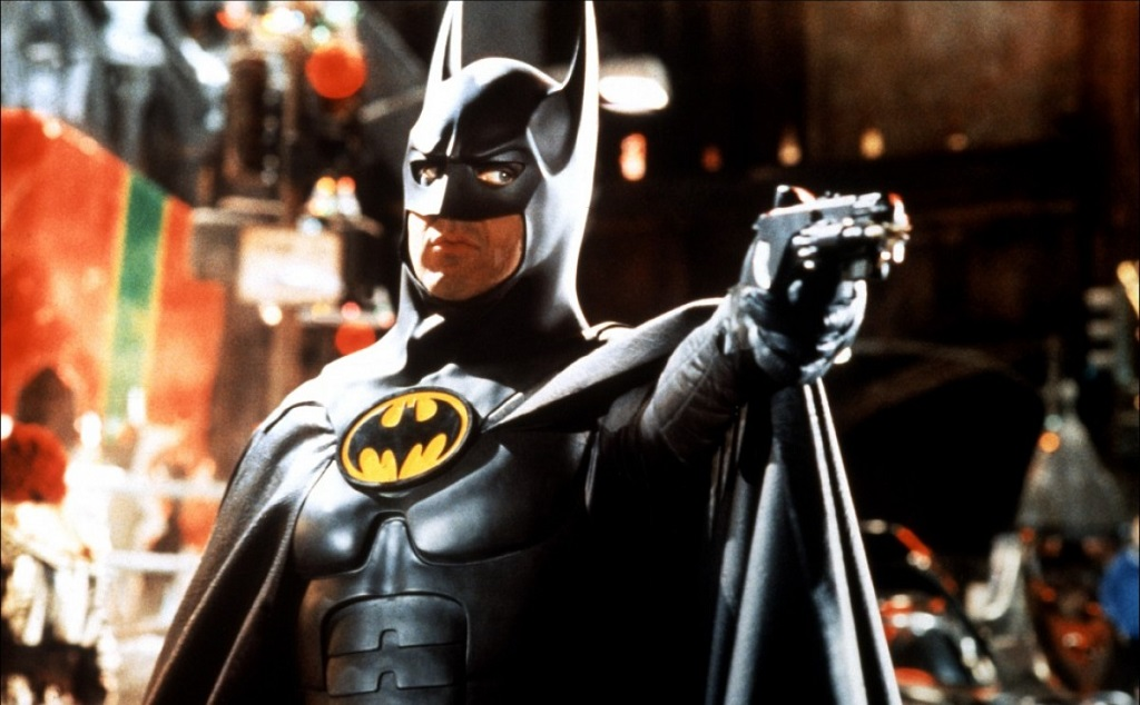 As I understand it, Keaton couldn`t move his head while in this suit. His performance while in the costume had a quality of stiffness, almost frustration, that somehow fit very well into the movie. Also, do you remember when Michael Keaton played Batman and it worked?