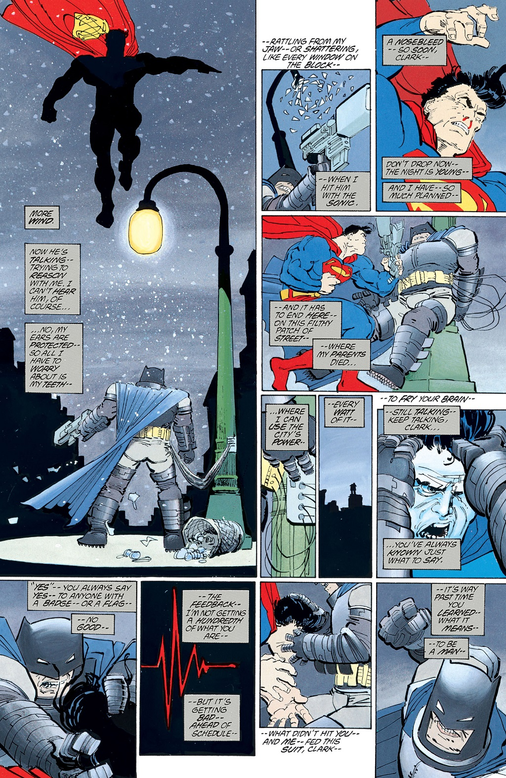 I didn`t read Dark Knight Returns for a long time, because I thought the whole Batman and Superman fighting thing was dumb. Now that I`ve read it, I admit it`s pretty good, though still not my favorite.
