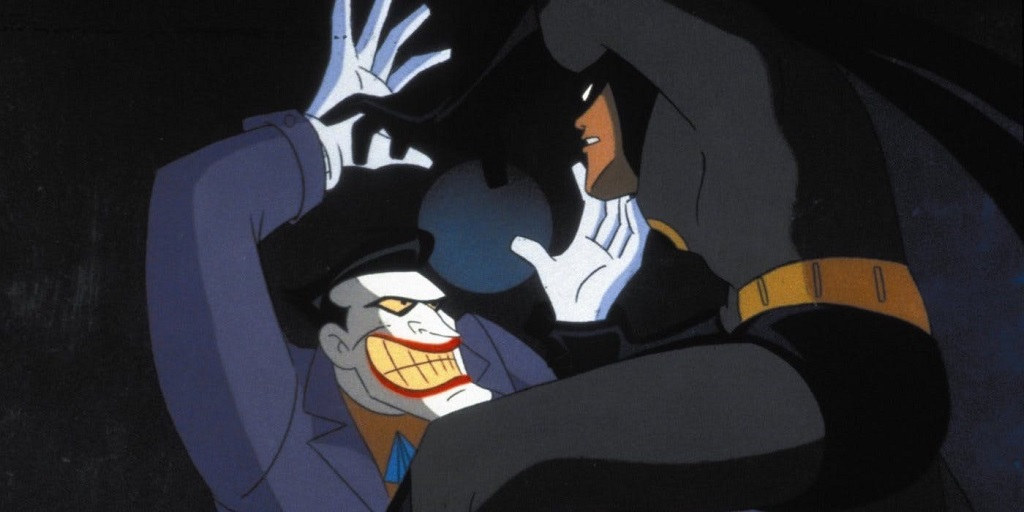 One thing the animated series could do, and often did, to good effect, was to make the Joker physically large. Very often Batman, usually the burliest mook in the room, could seem like he was at a disadvantage.