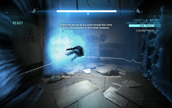 Step carefully through the guy getting blown away and look for more awesomeness. Nitpick: If this guy was blown through the wall when the keypad detonated, then shouldn't the keypad be… detonated? In the game, it looks shiny-new and is apparently none the worse for wear after exploding.