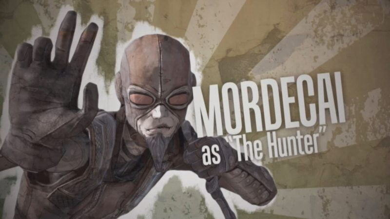 This is Mordecai`s big intro from the opening cinematic. I have no idea why these are so washed out and sepia tone. These introductions will get more colorful as the series goes on.