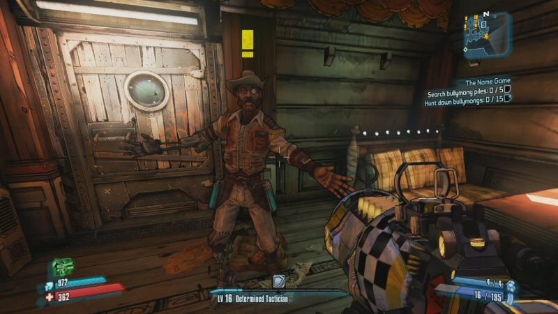 Hammerlock's arm was bitten off by some local wildlife. In the Pre-Sequel we learn that it was sort of his fault for releasing an invasive species onto Pandora.