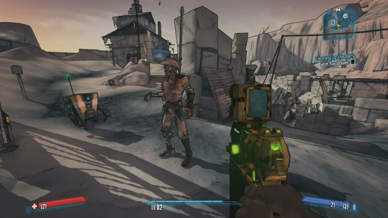 """Hammerlock is here so we can see how much everyone hates Claptrap. Now we understand he`s annoying on purpose, not a botched """"endearing"""" character. (Although it`s okay if you like him. I kinda do.)"""