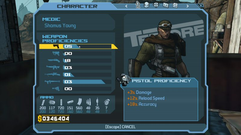 This is the weapon proficiency screen in Borderlands 1.