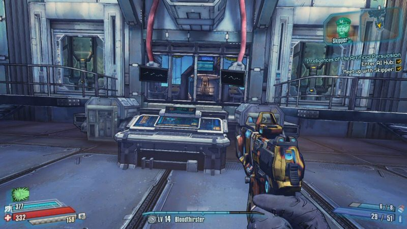 """Unlike in Borderlands 2, this game presents a twist you can see coming a mile away, and yet it seems to expect you to be surprised when it happens. I imagine most people will realize """"The Skipper"""" is an AI longer before the big reveal."""