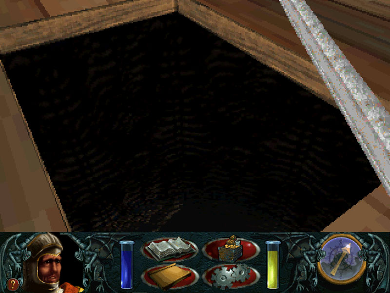 That shadow down there is a pit of lava. Apparently it`s just out of range of my light source.
