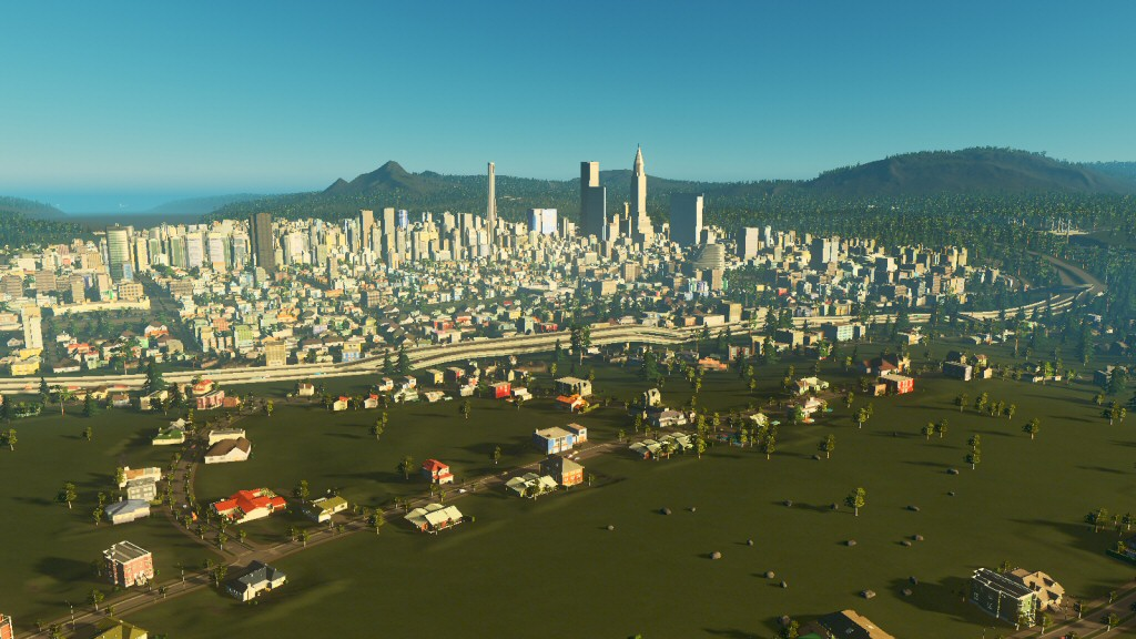 Yup, that's a city, and it has a skyline. Story checks out.
