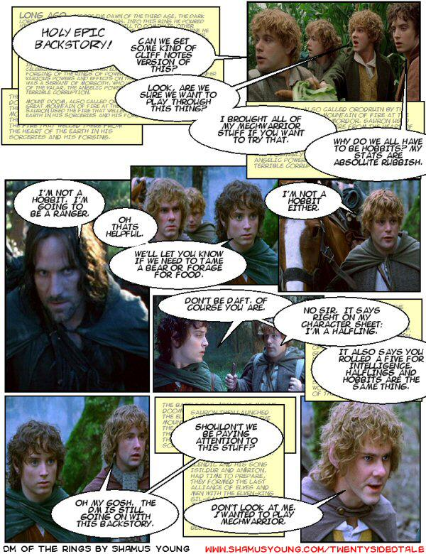 Lord of the Rings, D&D campaign