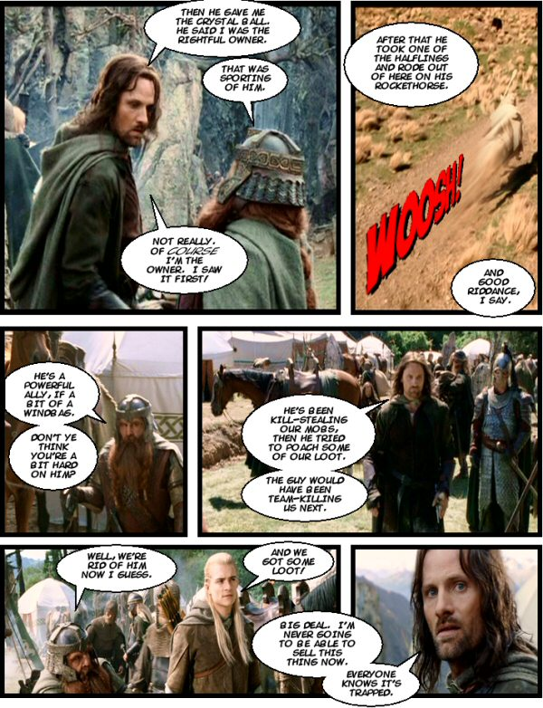 Aragorn gets the crystal ball.