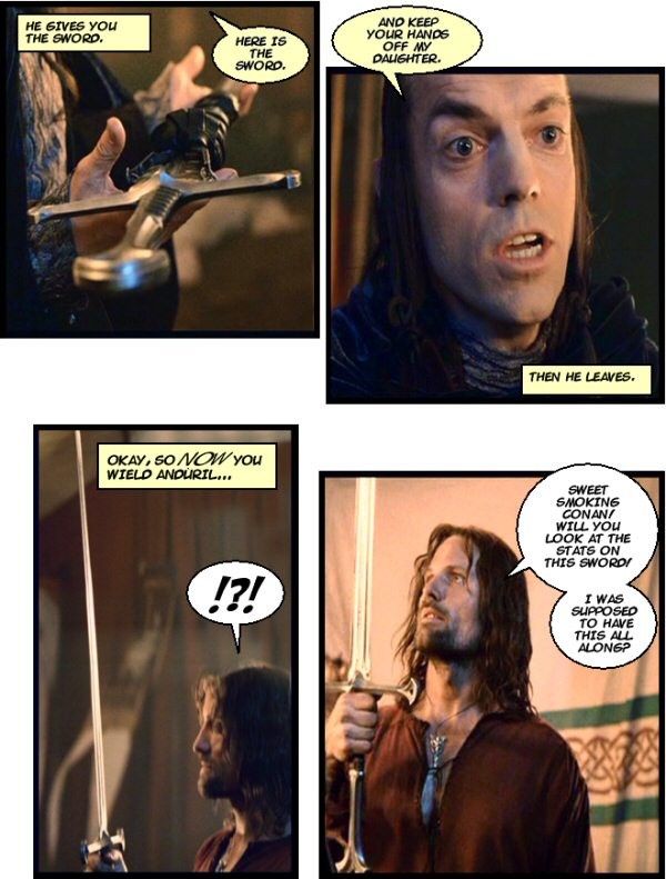 Elrond drops by.