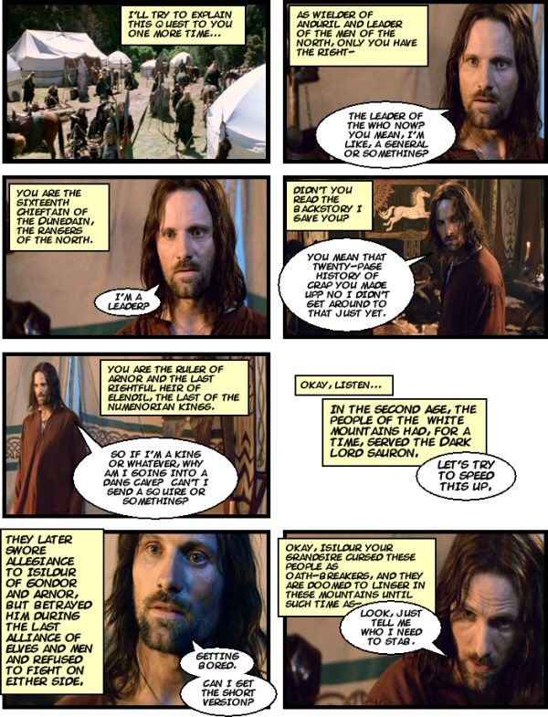 Aragorn really ought to read his own backstory.