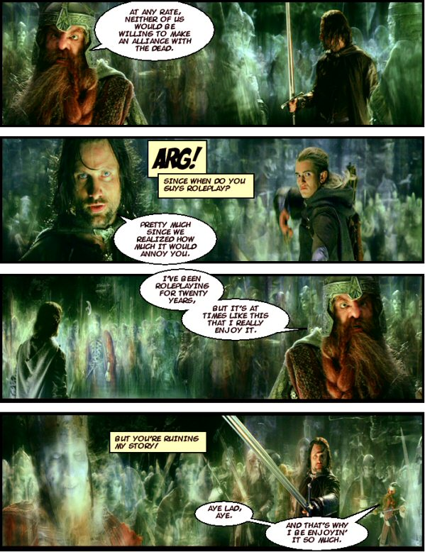 Gimli and Legolas annoy the DM by roleplaying.