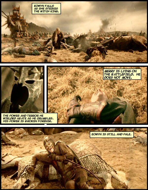 Eowyn faced the Nazgul. She won.  Sort of.