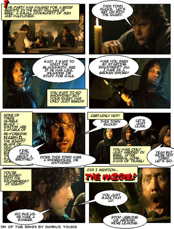 Lord of the Rings, D&D campaign – Bree, Strider, Aragorn, Whorehouse, Nazgul