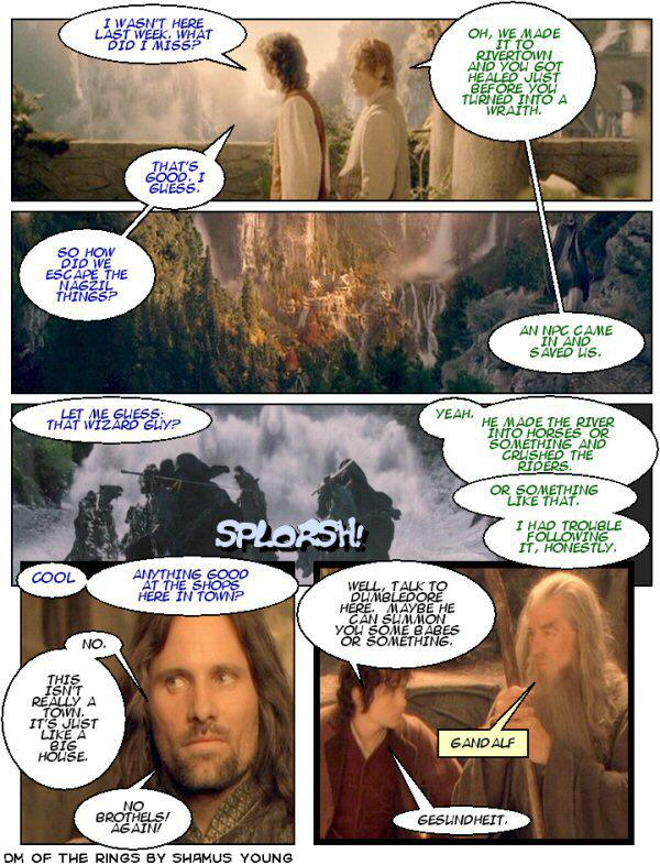 Lord of the Rings, Rivendell, Rivendale, Frodo, Gandalf, Dumbledore
