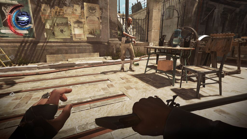 I really miss the light-based visibility mechanics of Thief. Stealth in Dishonored is based entirely on posture and line-of-sight.