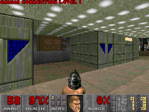 This screenshot is from Doom 2, not Doom. I just realized I no longer own the original game. The floppies died years ago.