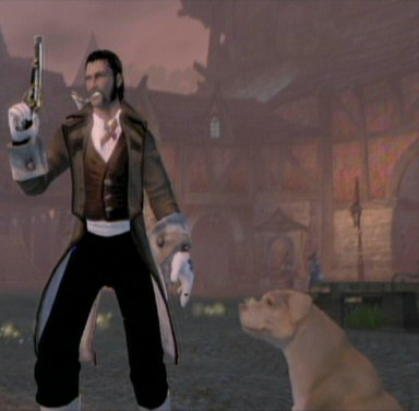 This is Gunslinger, my virtuous English gentleman. Other characters include Fearmonger, the exceedingly rude demon-man, and Conjurer, the morally flexible barefoot spellsword enchantress.  This game offers a lot of freedom to customize your character. (And yes you can be female this time.)  These are not fixed character classes, but simply character concepts I cooked up and was able to create using the mechanics provided.