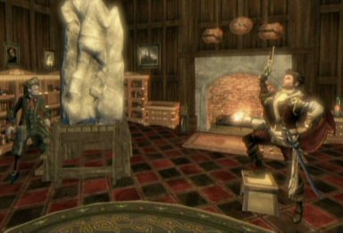Reaver sees you while he's having a statue made of himself. I'd make a snarky comment about his arrogance, but the player can have statues made of him (or her) self in various poses, and I've dotted Albion with statuary of myself giving everyone the finger.