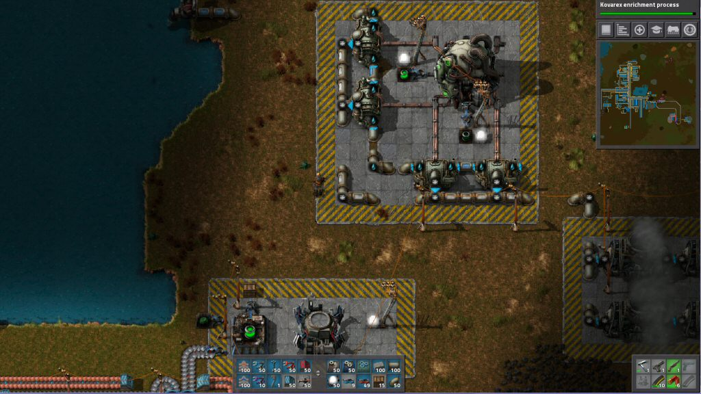 My nuclear power plant. The great thing about being trapped alone on an alien world is you don't have to put up with any NIMBY bullshit.