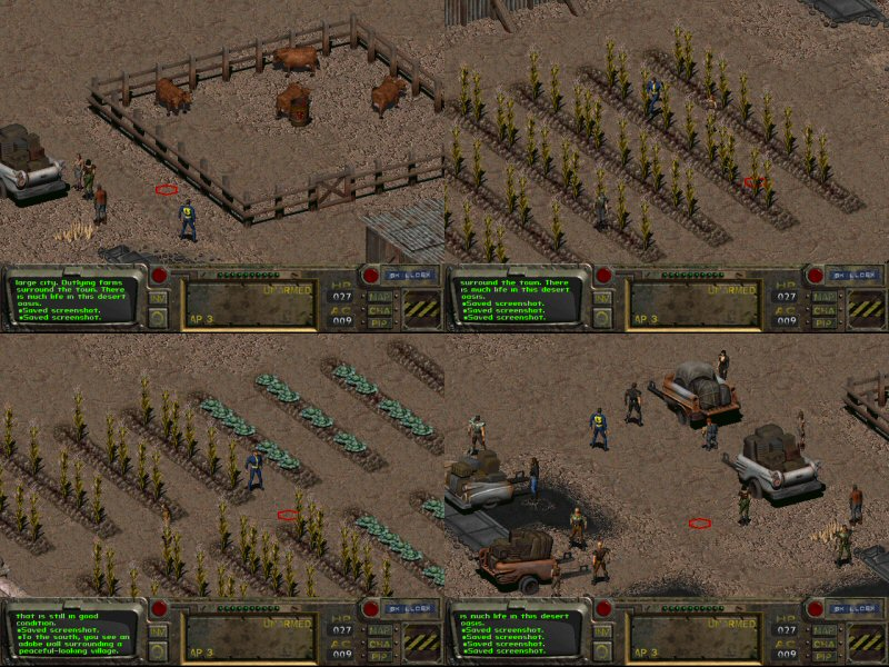 In Fallout 1, time was taken to establish where food comes from and how it gets around.