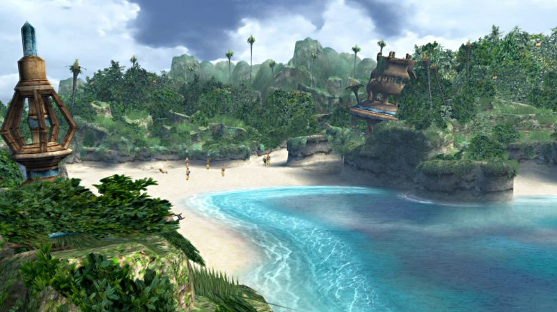 Tidus, the best blitzball player in Zanarkand, washes up on shore in front of the worst blitzball players in history.