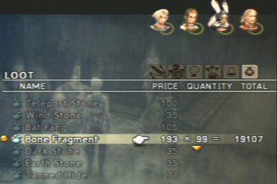 Final Fantasy 12, $20,000 for bone fragments?