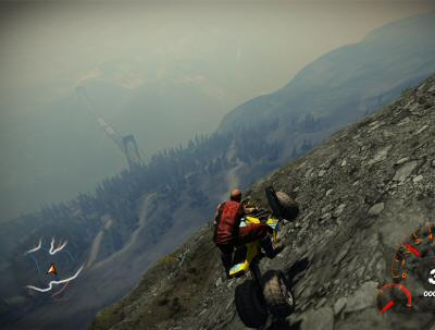 If it were possible to jump off your vehicle, Fuel would have the makings of a fairly thrilling base jumping game.