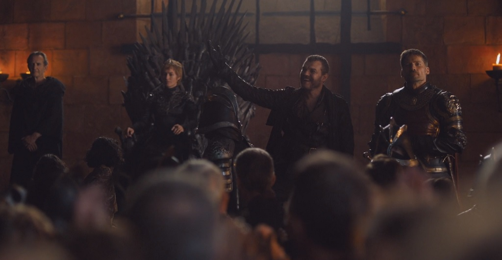 Euron is played by a Danish actor named Pilou Asbaek. He at least seems to be having fun, so there`s that.