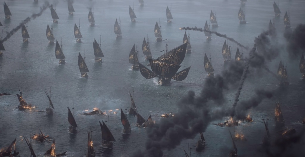 Once again, he was able to sneak an entire fleet up undetected. The Ironborn really need to work on their situational awareness.