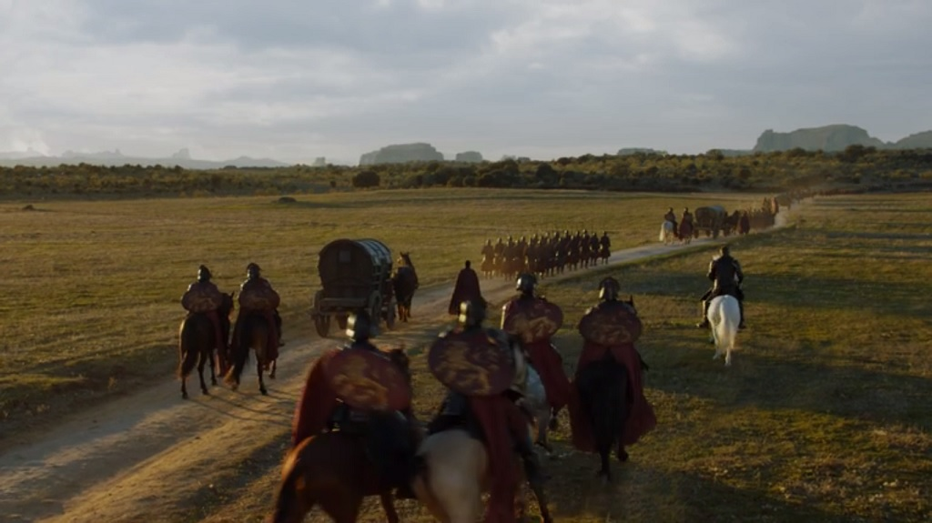 Last episode Queen Cersei asked for a 'fortnight.' Did an army that's mostly on foot really go from King's Landing to Casterly Rock to Highgarden and back to King's Landing in the space of two weeks?