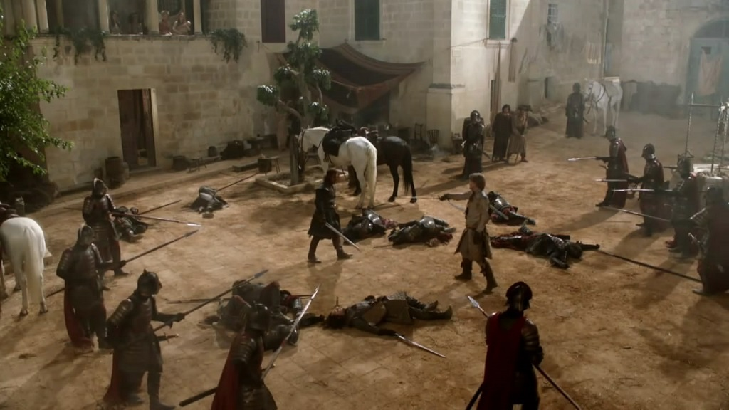 Very much a season one set. This is what the show looked like before HBO secured funding from the Iron Bank of Braavos.