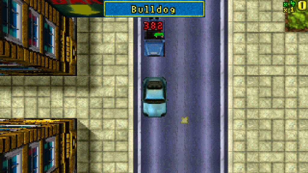 The first game showed a title card announcing the name of the car as you enter it, a feature that remains today.