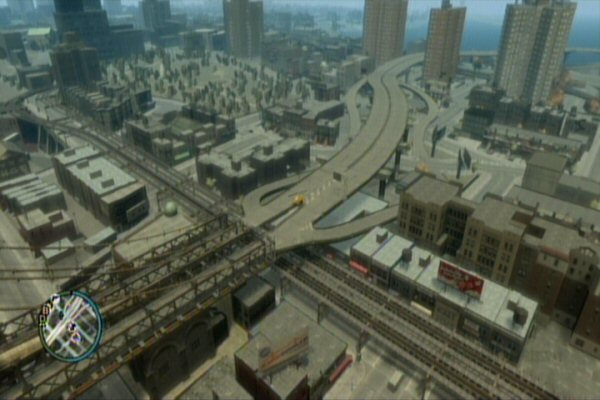 It really is shocking how far games have come.  Here is a shot of GTA IV.  Look at the detail reaching off into the horizon.  Getting that much shifting data off of disk and into the world in a timely manner is far more impressive to me than what they're doing with pixel shaders these days.