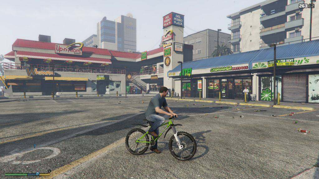 This game has more unique strip-mall stores than most other games have LEVELS.