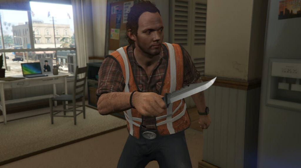 Debra cleaned the whole house, yet somehow left this giant knife on her kitchen counter? And timid Floyd suddenly decided to arm himself with it? And used it to threaten Debra? Come on.