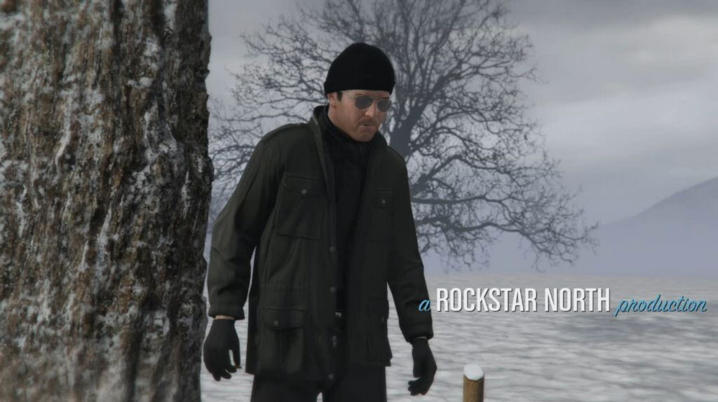 Here is Michael - a character we've barely seen from the front - wearing a hat and dark glasses. Are we supposed to recognize this as the guy from the previous scene?