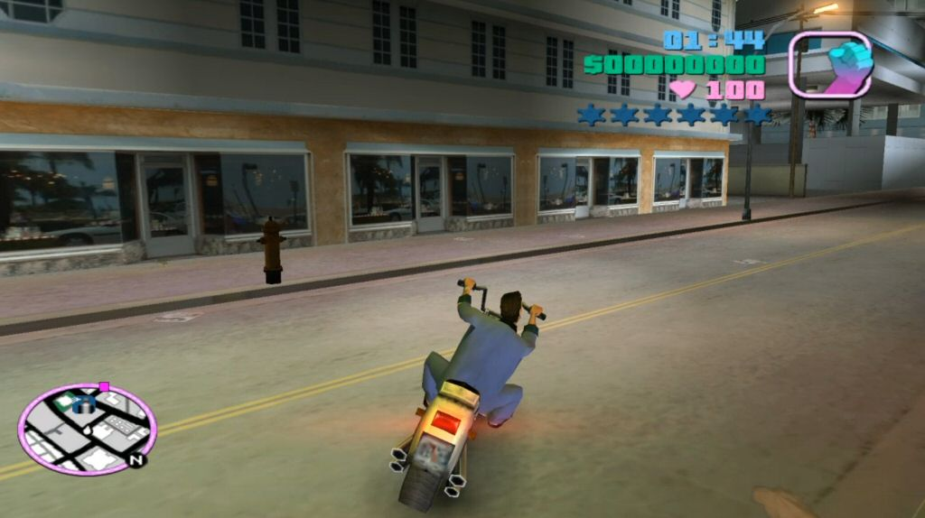 Vice City is the first game to feature motorcycles. (At least, since the move the 3D.)