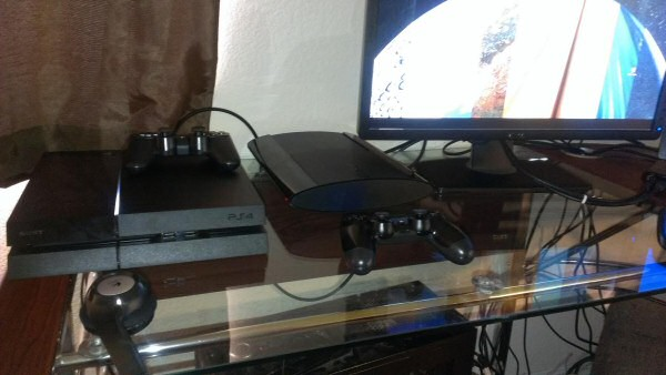Josh's Playstation 4. We'll talk about this in a minute.