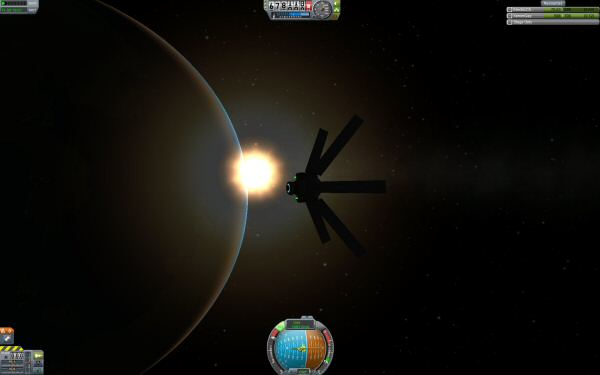 An unmanned probe. Way easier to get into space. Kerbals require a lot of heavy stuff to keep them alive.