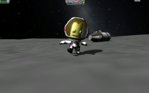 Enjoy your time on the Mun, little Kerbal. Because I have no idea how to bring you home again.